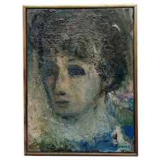 Robert Frame - Portrait of Sylvia- Oil painting