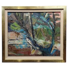 Robert Frame - Tree in a Landscape- Oil painting