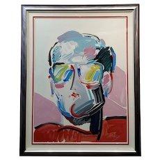 Peter Max -Portrait of Neo Man -Original Pop Art Serigraph