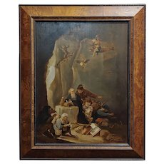 David Teniers the Younger - (Flemish) - The Temptation of St. Anthony - Oil Painting