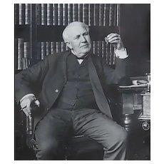 Thomas Edison - original Hand Signed document letter  - dated 1909