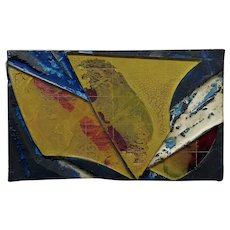 Laddie John Dill - Untitled Abstract with Yellow - Mix Media Painting