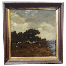 French Impressionist Landscape - Oil painting 1907