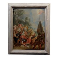 16th/17th century Old Master - Wounded Warrior - Oil painting