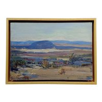 Mary Darter Coleman -California Desert Landscape -OIl painting