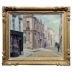 Henri Plisson - Impressionist Street scene - Oil painting - c1960s