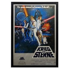 Star Wars - Krieg Der Sterne-Original 1977 German Movie Poster
