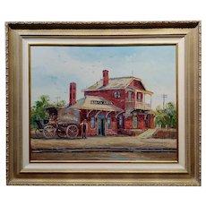 Ben Abril - Santa Anita Station - Oil painting