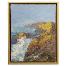 Anna Hills - Laguna Beach rocky coastline -Oil painting