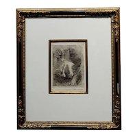 Armand Berton - Mother & Child - Original Etching -c1900s