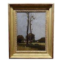William J. Kaula -New Hampshire Cottage Landscape -Oil painting -c.1930s