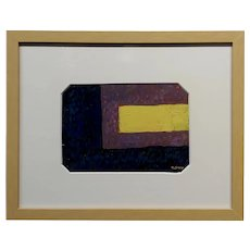 Conrad Buff - Yellow Stripe  - Abstract Oil painting