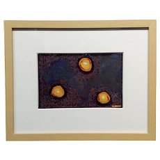 Conrad Buff -Tree balls of Fire  - Modernist Oil painting