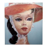 Claudia Parducci -Open Road -Girl w/a Red Hat-Oil painting