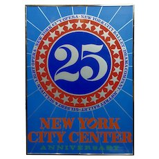"Robert Indiana ""New York City Center 25th Anniversary"" 1968 Silkscreen Poster"