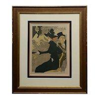 Henry de Toulouse-Lautrec -Divan Japonais -Original 1895 Lithograph