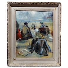 Gladys MacCabe - A Day at the Shore - Irish Oil painting