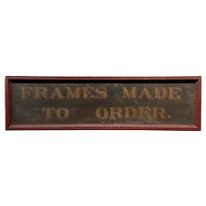 19th century Rare Original Advertising Sign - Frame Made to Order