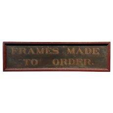 19th century Rare Original Advertising Sign - Frame Made to Order