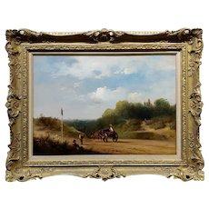 Edmund John Niemann 19th century Derbyshire Landscape- Oil Painting