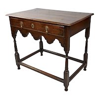 Georgian 18th century Antique carved Oak Side Table