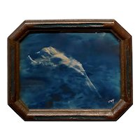 Edward Sheriff Curtis 1910s Floating Aphrodite-Blue toned Silver Gelatin Photo