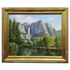 David Chapple Yosemite Fall  Landscape - California Plein Air Oil Painting