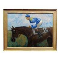 Henry Koehler Jockey #5 Jogging  - Oi painting  impressionist
