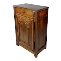 """18th century French Provincial Carved Walnut """"Skinny"""" Buffet"""