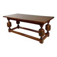 19th century Gorgeous Elizabethan Style Oak Dining Table