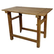 18th century Country Farm distressed Fruitwood Side Table