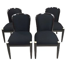 Sally Sirkin for Robert Scott Upholstered Dining Chairs -Set of 4