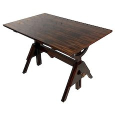 Modern Zebra Wood Veneer Writing Table  size