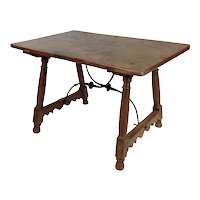 17th-18th Century Spanish Colonial Walnut Trestle Table