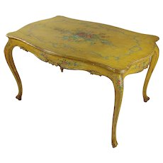 19th century Venetian Painted Salon Table