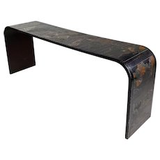 Chinoiserie Mid century black Lacquer Console Table