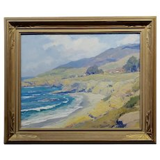 Arthur Hill Gilbert -Beautiful California Coast - Oil painting