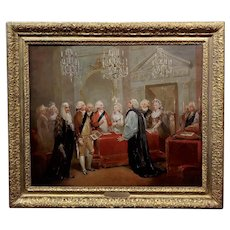 After Henry Singleton Duke and Duchess of York 1791 Marriage -Oil painting