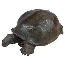 Vintage Paper Mache Galapagos Turtle Sculpture