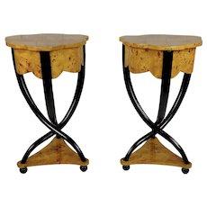Biedermeier Stylish Bedside Tables - a Pair