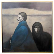 Ray Donley -Unemotional Figures -Oil painting