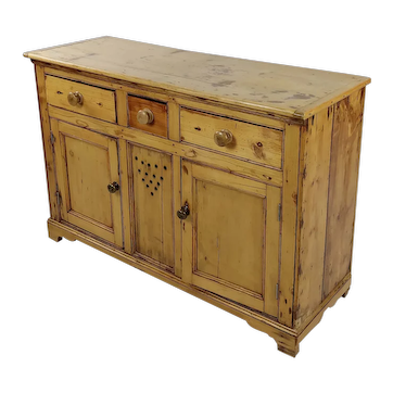 Vintage Country Farm Pine Cabinet Server