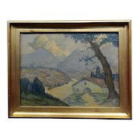 Valentin de Zubiaurre Jr - 1920s Spanish Basque Landscape -Oil painting