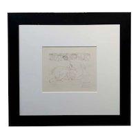 Pablo Picasso 1933 Vollard series Minotaur Vaincu -Original Pencil Signed Etching