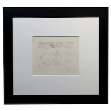 Pablo Picasso 1933 Vollard series Minotaur Vaincu -Original Pencil Signed Etching