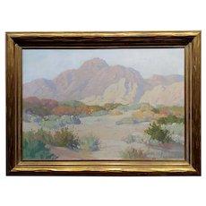 Carl Sammons - Palm Springs beautiful Desert Landscape - Oil painting