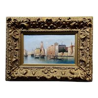 Henri Carnier -19th century Beautiful View of Venice -OIl painting
