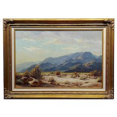 Paul Grimm Mojave Desert Landscape in Palm Springs -California Oil painting