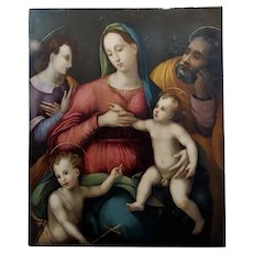 Andrea del Sarto Attributed - The Holy Family -16th century Oil painting