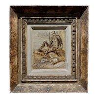Reginald Marsh -Nude Male  -Oil painting